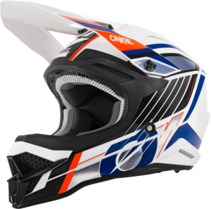 O'NEAL 3SRS Helm VISION V.21 Weiß/Schwarz/Orange