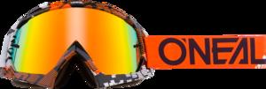 O'NEAL B-10 Brille PIXEL V.18 Orange/Weiß One Size