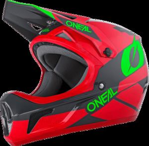 O'NEAL SONUS Helm DEFT V.20 Rot/Grau/Grün