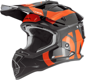 O'NEAL 2SRS Youth Helm SLICK V.19 Schwarz/Orange