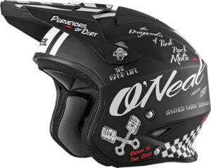 O'NEAL SLAT Helmet TORMENT V.18 Schwarz/Weiß