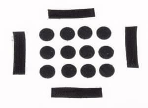 O'NEAL Velcro Sticker Set DIRT LID Helmet V.10 Schwarz