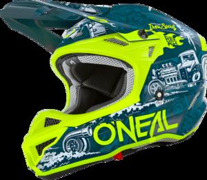 O'NEAL 5SRS Polyacrylite Helmet HR V.20 Blue/Neon yellow