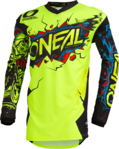 O'NEAL ELEMENT Youth Jersey VILLAIN V.20 Neon gelb
