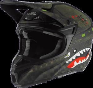 O'NEAL 5SRS Polyacrylite Helmet WARHAWK V.20 Black/Green