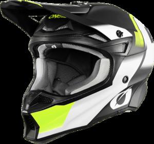 O'NEAL 10SRS Hyperlite Helm BLUR V.20 Schwarz/Neon gelb XS