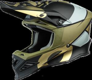 O'NEAL F-SRS Helm GLITCH V.21 Schwarz/Bronze