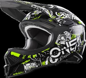 O'NEAL 3SRS Helm ATTACK 2.0 V.20 Schwarz/Neon gelb