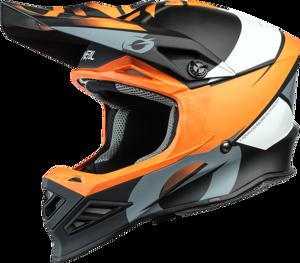 O'NEAL F-SRS Helm GLITCH V.21 Schwarz/Orange